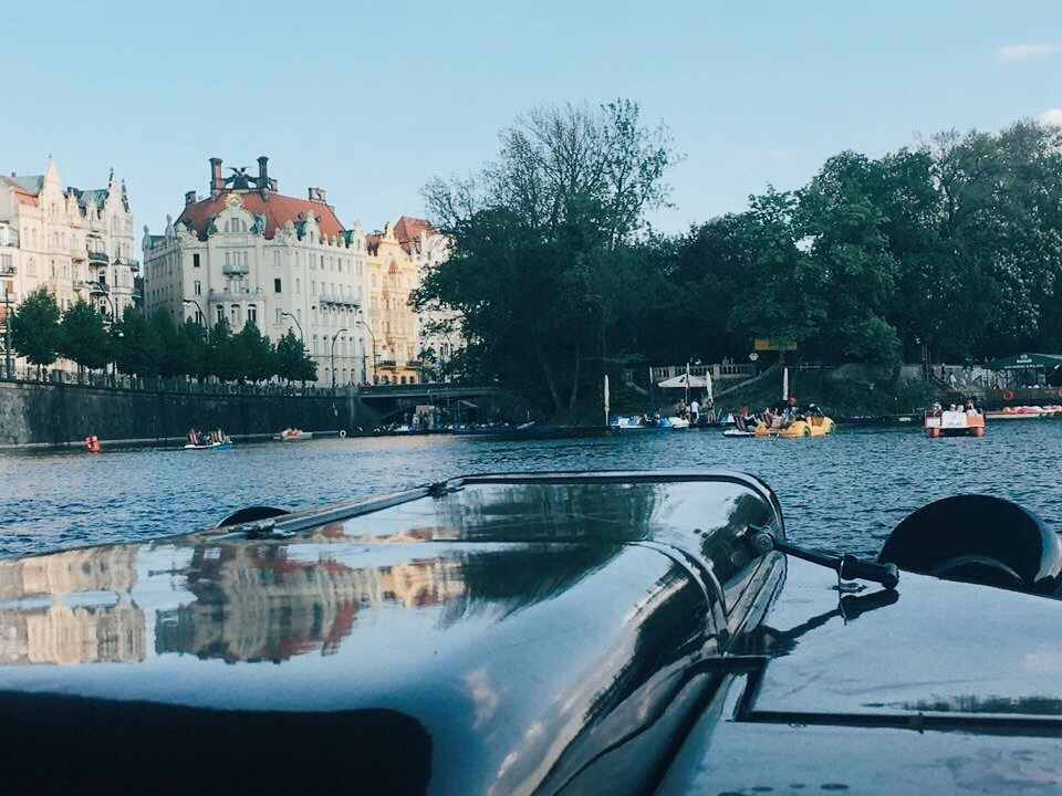 Things to do in Prague: Paddle boating on Vltava River in Prague