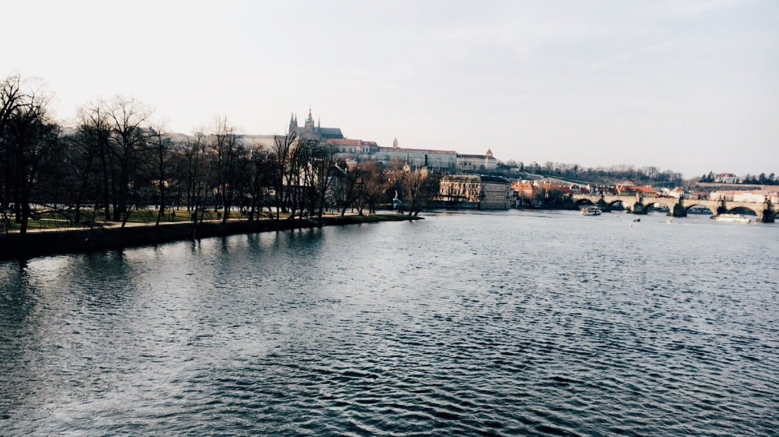 Shooter's Island on Vltava River in Prague
