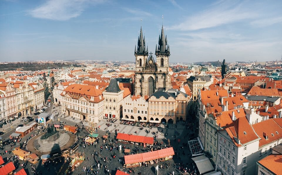 Prague Old Town Square: view from Old Town Hall