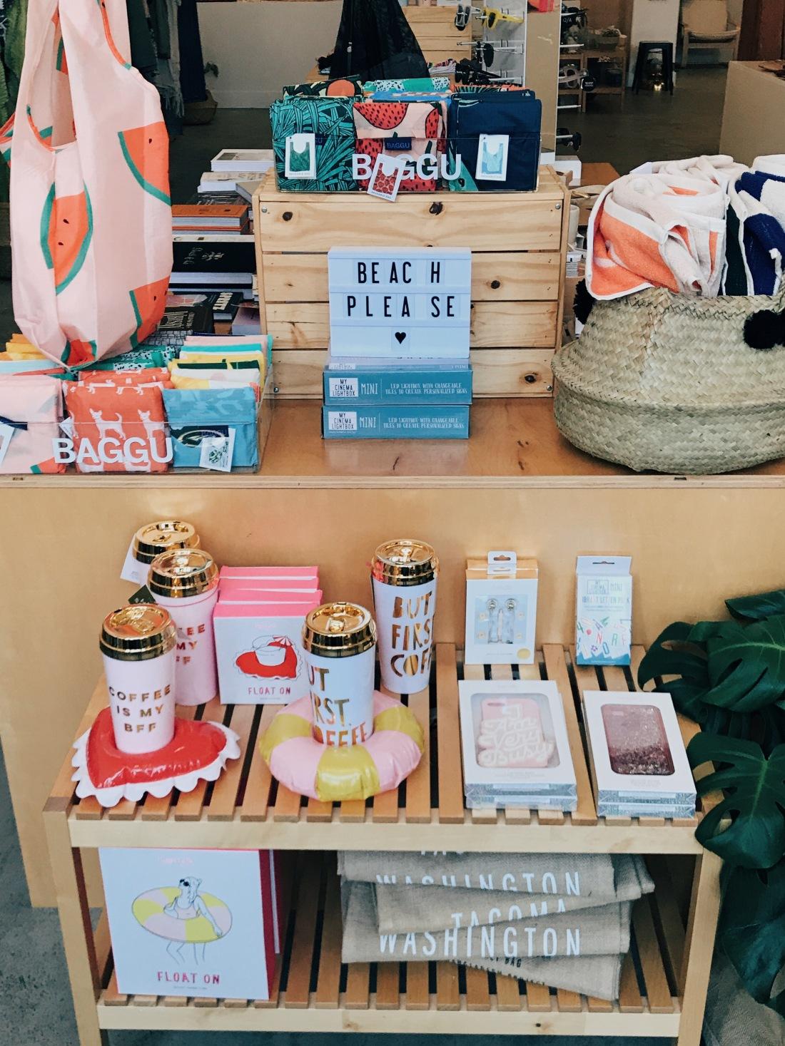 Satori boutique merchandise display