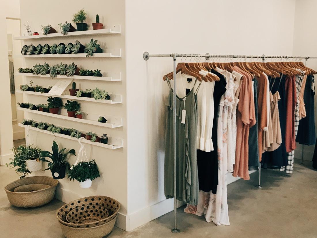 Inside of Satori boutique